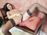 Hot solo action by pretty angel in sexy stockings
