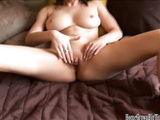 Busty amateur babe Mona Lee masturbates and orgasms